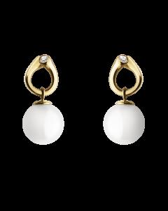 Georg Jensen Magic örhängen - 18 kt. guld med diamanter (0,04 ct.)