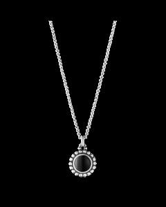 Georg Jensen Moonlight Blossom halsband m/svart agat - silver
