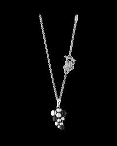 Georg Jensen Moonlight Grapes halsband m/hängsmycke - oxiderade silver med svart agat