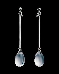 Georg Jensen Dew Drop Sterling Sølv Smykke med Bjergkrystal