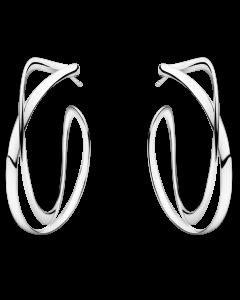 Georg Jensen Infinity örhängen 36 mm - silver