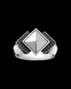 Georg Jensen Nocturne ring - silver med diamanter