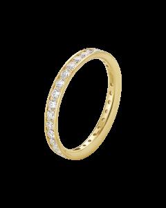Georg Jensen Classique ring - 18 kt. guld med diamanter