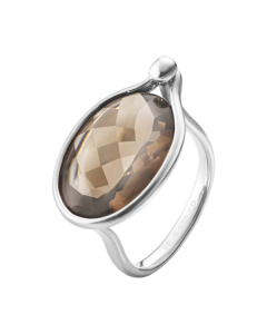 Savannah Sterling Sølv Ring fra Georg Jensen med Røgkvrts